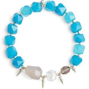 $85 KENDRA SCOTT Sadie Teal Stretch Bracelet NWT